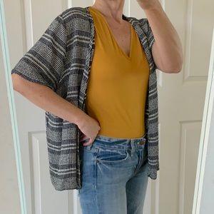 Vintage LA Woman Short Sleeve Open Cardigan S/M/L